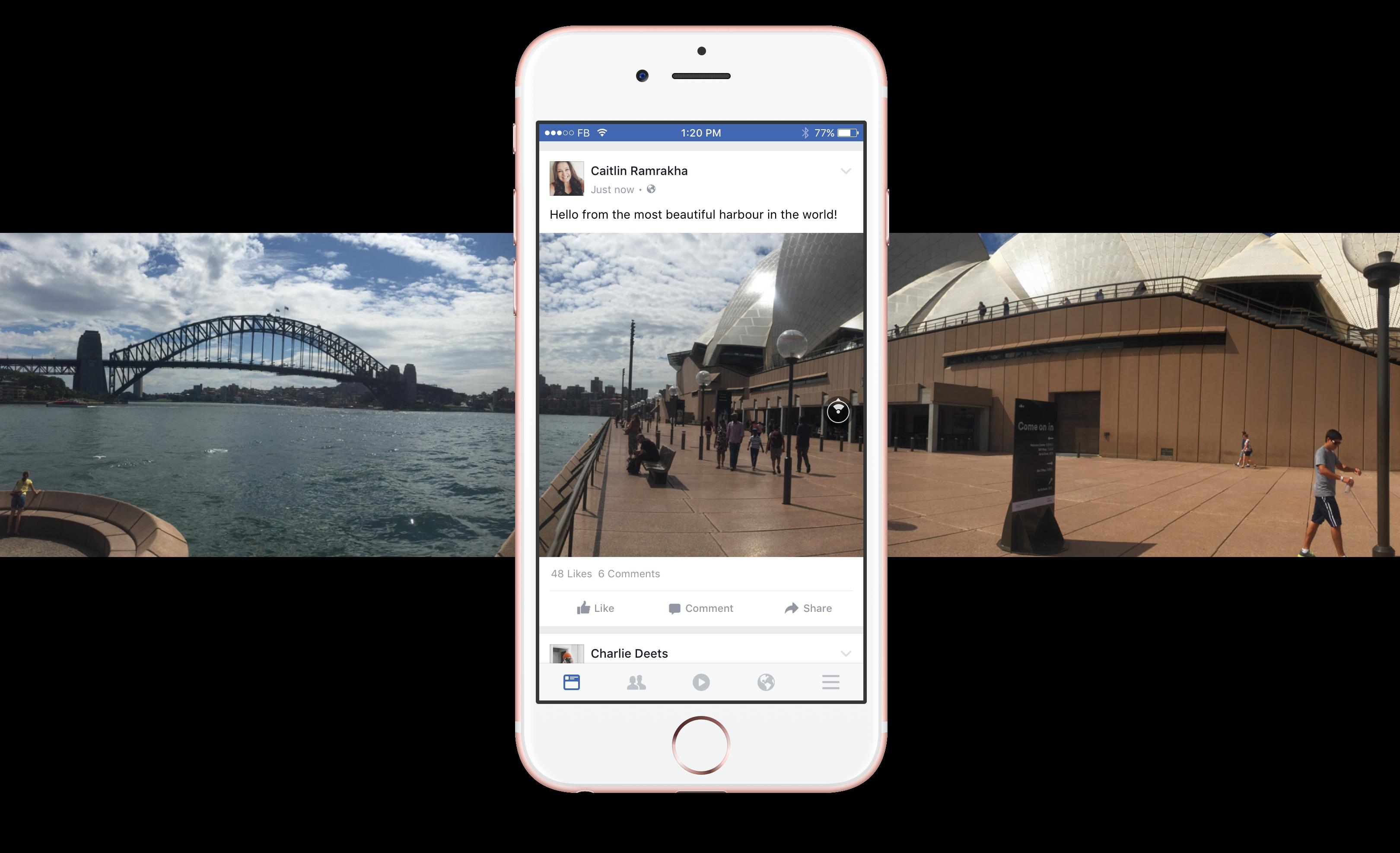 Foto 360 Facebook Sydney - Feed