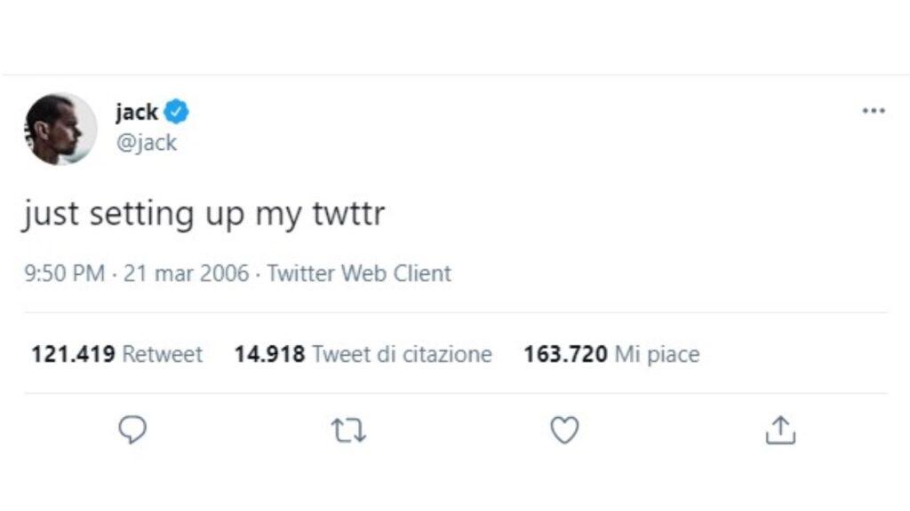primo tweet della storia