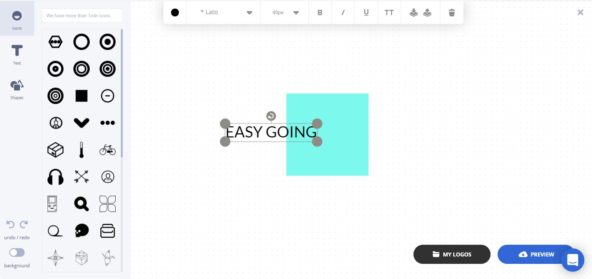 Creare un logo online gratis con Ucraft