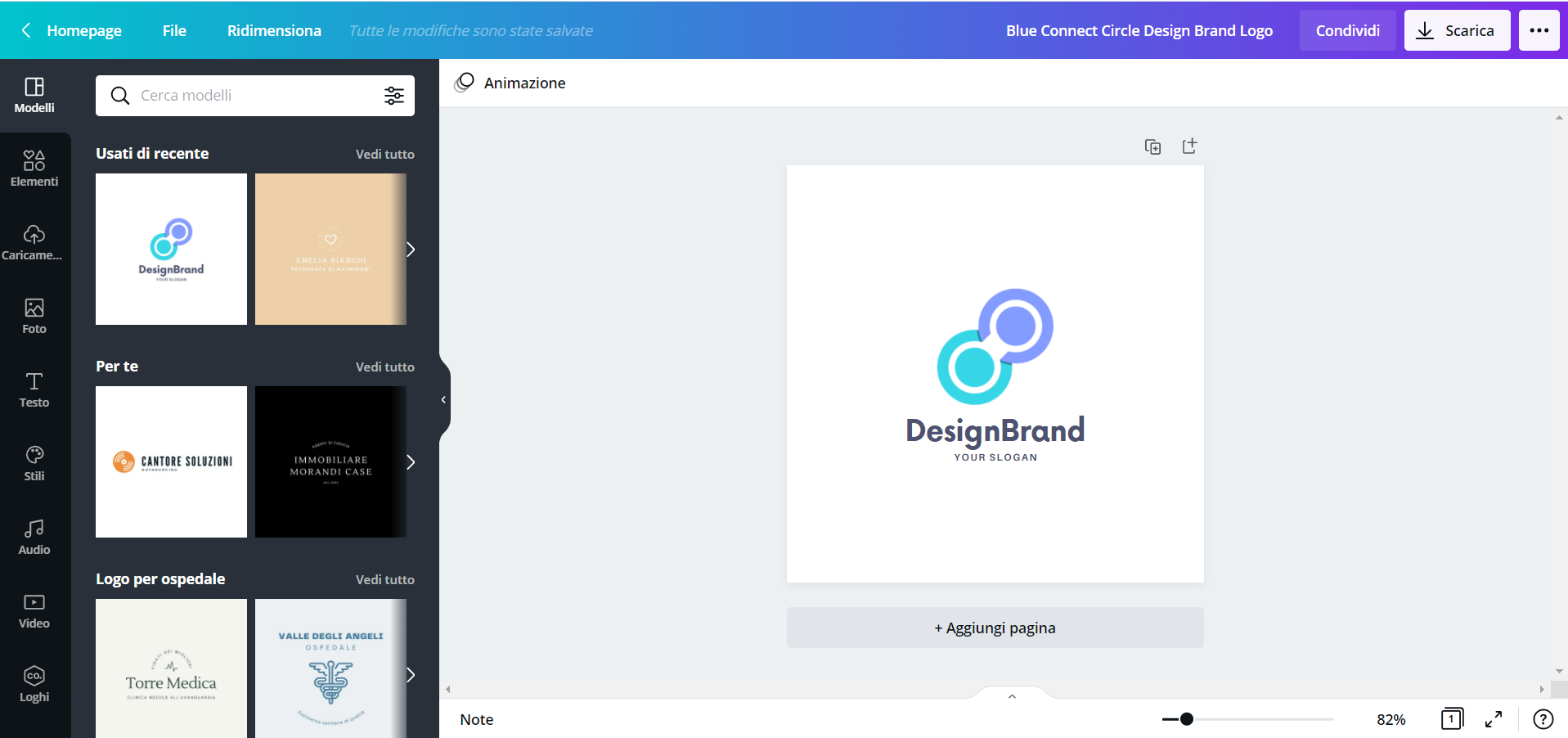 Creare un logo online gratis con Canva